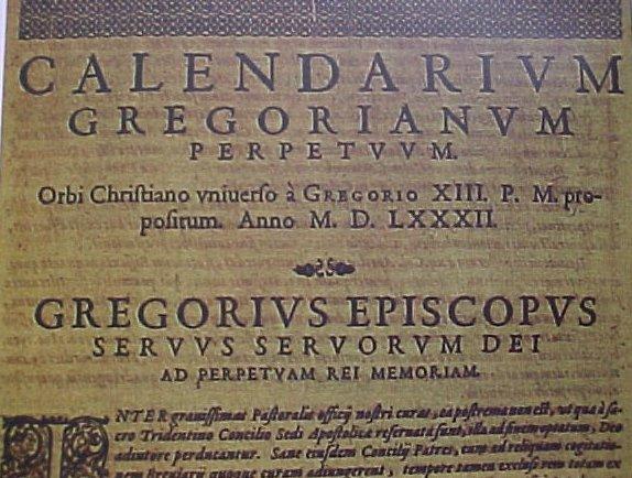 calendrier grégorien